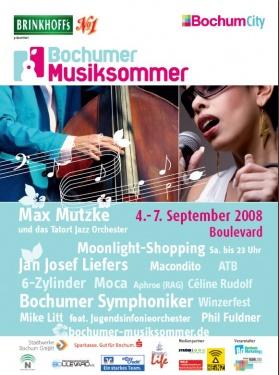 Bochumer Musiksommer2008 Plakat