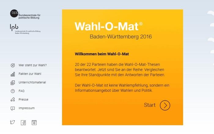 Wahl-o-mat BW 2016
